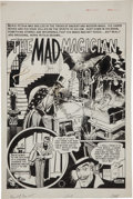 "Original Comic Art:Splash Pages, Wally Wood and Harry Harrison Haunt of Fear #15 ""The MadMagician"" Splash Page Original Art (EC, 1950)...."