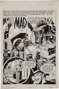"""Wally Wood and Harry Harrison Haunt of Fear #15 """"The Mad Magician"""" Splash Page Original Art (EC, 1950)"""