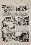 "Original Comic Art:Splash Pages, Graham Ingels Tales From the Crypt #31 ""Buried Treasure"" OldWitch Splash Page 1 Original Art (EC, 1952)...."