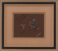 Animation Art:Production Drawing, Fantasia Pans and Unicorn Production Drawing Animation Art(Walt Disney, 1940)....