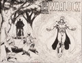 Original Comic Art:Covers, Jim Starlin Warlock #5 Cover Original Art (Marvel, 1983)....
