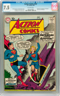 Silver Age (1956-1969):Superhero, Action Comics #252 (DC, 1959) CGC VF- 7.5 Off-white pages....