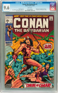 Bronze Age (1970-1979):Superhero, Conan the Barbarian #1 (Marvel, 1970) CGC NM+ 9.6 White pages....