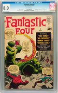 Silver Age (1956-1969):Superhero, Fantastic Four #1 (Marvel, 1961) CGC VF 8.0 Off-white pages....