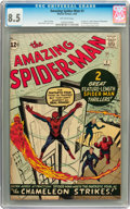 Silver Age (1956-1969):Superhero, The Amazing Spider-Man #1 (Marvel, 1963) CGC VF+ 8.5 Off-whitepages....