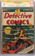 Golden Age (1938-1955):Superhero, Detective Comics #31 Signed by Jerry Robinson - Signature Series (DC, 1939) CGC PR 0.5 Brittle pages....