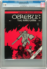 Cerebus The Aardvark #1 (Aardvark-Vanaheim, 1977) CGC FN/VF 7.0 Off-white to white pages