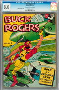 Golden Age (1938-1955):Adventure, Buck Rogers #4 (Eastern Color, 1942) CGC VF 8.0 Cream to off-white pages....