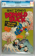 Golden Age (1938-1955):Cartoon Character, Four Color #147 Donald Duck (Dell, 1947) CGC VF- 7.5 Off-whitepages....