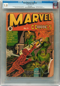 Marvel Mystery Comics #5 (Timely, 1940) CGC FR 1.0 Brittle pages