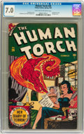 Golden Age (1938-1955):Superhero, The Human Torch #26 (Timely, 1947) CGC FN/VF 7.0 Light tan tooff-white pages....