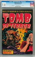 Golden Age (1938-1955):Horror, Tomb of Terror #15 Williamsport pedigree (Harvey, 1954) CGC VF- 7.5Off-white to white pages....