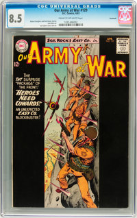 Our Army at War #129 Savannah pedigree (DC, 1963) CGC VF+ 8.5 Cream to off-white pages