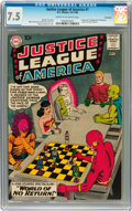 Silver Age (1956-1969):Superhero, Justice League of America #1 Savannah pedigree (DC, 1960) CGC VF-7.5 Cream to off-white pages....