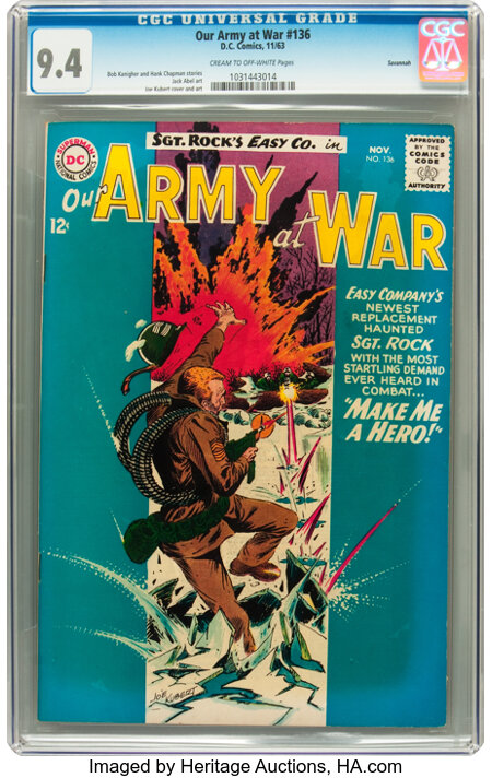 Our Army at War #136 Savannah pedigree (DC, 1963) CGC NM 9.4 Cream to off-white pages....
