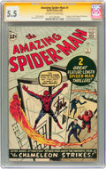 Silver Age (1956-1969):Superhero, The Amazing Spider-Man #1 Signature Series (Marvel, 1963) CGC FN- 5.5 Off-white to white pages....