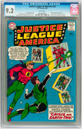 Silver Age (1956-1969):Superhero, Justice League of America #22 (DC, 1963) CGC NM- 9.2 White pages....