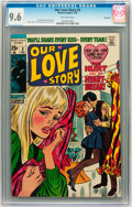 Bronze Age (1970-1979):Romance, Our Love Story #3 Savannah pedigree (Marvel, 1970) CGC NM+ 9.6Off-white pages....