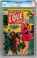 Bronze Age (1970-1979):Romance, Our Love Story #4 Savannah pedigree (Marvel, 1970) CGC NM+ 9.6Off-white pages....