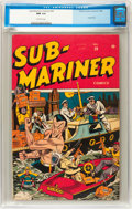 Golden Age (1938-1955):Superhero, Sub-Mariner Comics #20 (Timely, 1946) CGC NM 9.4 Off-white pages....