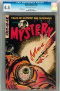Golden Age (1938-1955):Horror, Mister Mystery #12 (Aragon, 1953) CGC VG+ 4.5 Off-white to whitepages....