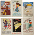 Memorabilia:Poster, New York Sunday World Advertising Poster Group (1895-96).... (Total: 6 Items)
