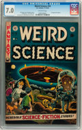 Golden Age (1938-1955):Science Fiction, Weird Science #16 Williamsport pedigree (EC, 1952) CGC FN/VF 7.0Off-white pages....