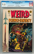 Golden Age (1938-1955):Science Fiction, Weird Science-Fantasy #27 Williamsport pedigree (EC, 1955) CGCVF/NM 9.0 Off-white pages....