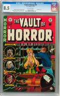 Golden Age (1938-1955):Horror, Vault of Horror #35 Williamsport pedigree (EC, 1954) CGC VF+ 8.5Off-white pages....
