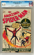 Silver Age (1956-1969):Superhero, The Amazing Spider-Man #1 (Marvel, 1963) CGC FN+ 6.5 Off-white pages....