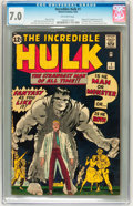 Silver Age (1956-1969):Superhero, The Incredible Hulk #1 (Marvel, 1962) CGC FN/VF 7.0 Off-whitepages....