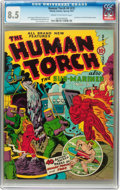 Golden Age (1938-1955):Superhero, The Human Torch #4 (#3) (Timely, 1941) CGC VF+ 8.5 Cream to off-white pages....
