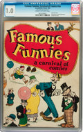 Platinum Age (1897-1937):Miscellaneous, Famous Funnies: A Carnival of Comics #nn (Eastern Color, 1933) CGCFR 1.0 Cream to off-white pages....