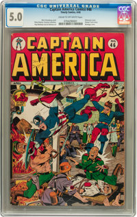 Captain America Comics #46 (Timely, 1945) CGC VG/FN 5.0 Cream to off-white pages