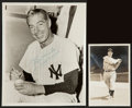 Baseball Collectibles:Photos, Joe DiMaggio Signed Original Photographs Lot of 2....