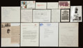 Baseball Collectibles:Others, Baseball Greats Signed Memorabilia Lot of 11....