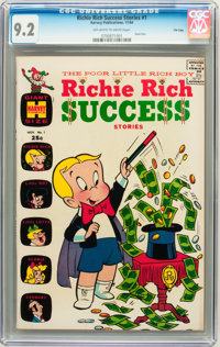 Richie Rich Success Stories #1 File Copy (Harvey, 1964) CGC NM- 9.2 Off-white to white pages