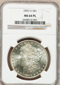Morgan Dollars: , 1890-O $1 MS64 Prooflike NGC. NGC Census: (113/11). PCGS Population (140/22). Numismedia Wsl. Price for problem free NGC/P...