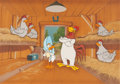 Animation Art:Presentation Cel, Foghorn Leghorn and Miss Prissy Presentation Cel Animation Art(Warner Brothers, 1994)....