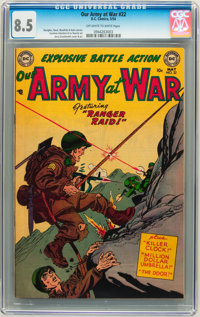 Our Army at War #22 (DC, 1954) CGC VF+ 8.5 Off-white to white pages