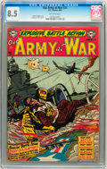 Golden Age (1938-1955):War, Our Army at War #21 (DC, 1954) CGC VF+ 8.5 Off-white pages....