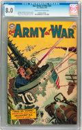 Golden Age (1938-1955):War, Our Army at War #25 (DC, 1954) CGC VF 8.0 Cream to Off-whitepages....