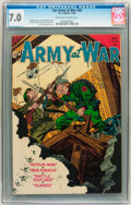Golden Age (1938-1955):War, Our Army at War #28 (DC, 1954) CGC FN/VF 7.0 Off-white to whitepages....