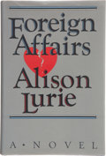 Books:First Editions, Alison Lurie. Foreign Affairs. New York: Random House,[1984]. First edition, first printing. Publisher's original b...