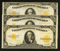Large Size:Gold Certificates, Three Fr. 1173 $10 1922 Gold Certificates.. ... (Total: 3 notes)