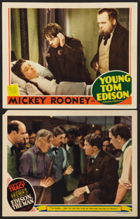 """Edison the Man Lot (MGM, 1940). Lobby Cards (2) (11"""" X 14""""). Drama. ... (Total: 2 Items)"""