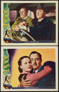 "Movie Posters:Mystery, Take One False Step (Universal International, 1949). Lobby Cards(2) (11"" X 14""). Mystery.. ... (Total: 2 Items)"