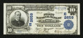 National Bank Notes:Pennsylvania, Bangor, PA - $10 1902 Plain Back Fr. 634 The First NB Ch. #(E)2659. ...