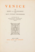 Books:Children's Books, Beryl de Sélincourt and May Sturge Henderson. Venice. NewYork: Dodd, Mead and Company, 1907. First edition. Illustr...