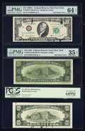 Error Notes:Ink Smears, Fr. 2025-B $10 1981 Federal Reserve Note. PMG Choice Very Fine 35EPQ; Fr. 2027-B $10 1985 Federal Reserve Note. PCGS Very Cho...(Total: 3 notes)
